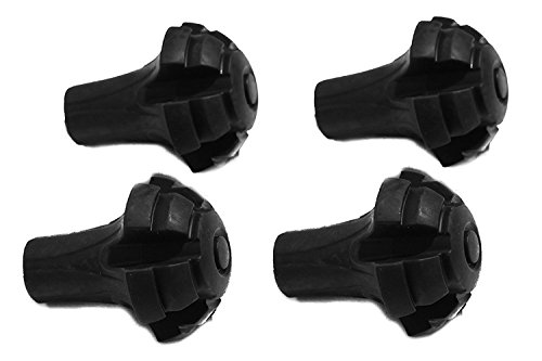 Hiker Hunger Extra Durable Rubber Tips, Paws, Ferrules: Accessories & Replacements for Trekking Poles (4 Pack)