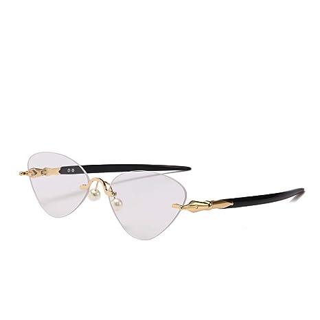 Yangjing-hl Retro Caja pequeña Modelos de Perlas Gafas sin ...