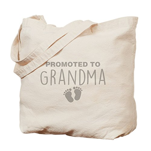 CafePress - Promoted To Grandma - Natural Canvas Tote Bag, Cloth Shopping Bag