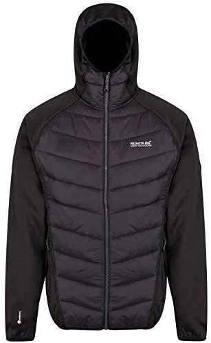Regatta Mens Andreson IV Lightweight Water Repellent /& Insulated Stretch Hybrid Hooded Jacket Baffled//Quilted