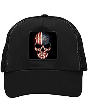 Unisex American Skull Adjustable Classic Hiphop Hat Baseball Cap Snapback Dad Hat
