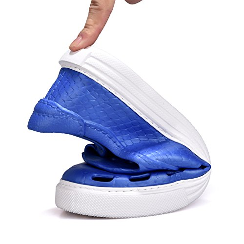 Feux Hommes Casual Creux Chaussures Plates Lumière Poids Respirant Été Sandales Bleu