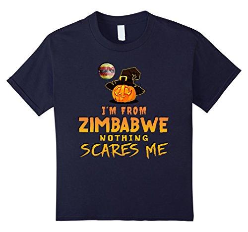 Costume Zimbabwe (Kids I'm From Zimbabwe Nothing Scares Me Tee 6)