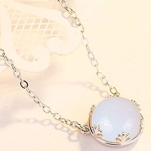 UltraSunday Opal Bead Goddess Moon Pendant Necklace Natural Stone Sailor Moon Necklace Jewelry Gift for Women