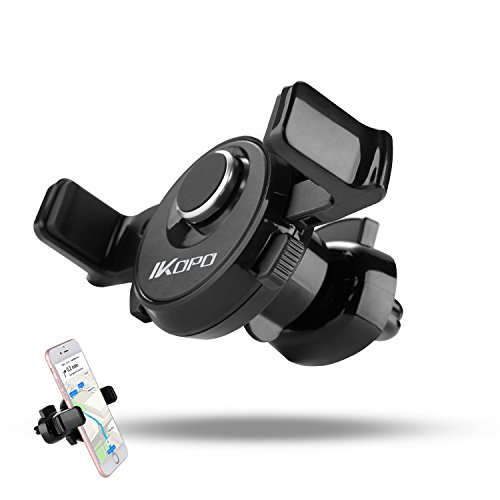 Vehicle Mount Cradle (IKOPO One Touch Air Vent Car Mount Holder Cradle for iPhone 7 7 Plus/ 6s Plus/6s/6, Samsung Galaxy S8 Edge S7 S6 Note 5, Nexus)
