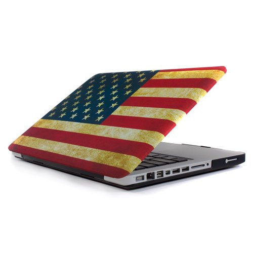 UPC 091037739292, GMYLE(R) US Flag Frosted Matte Rubber Coated See Thru Hard Shell Clip Snap On Case Skin Cover for 15 Macbook Pro