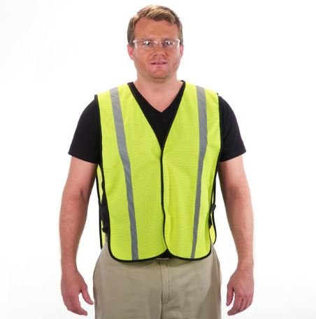(Viewbrite Lightweight Reflective Safety Vest Lime - Economy High Visibility Safety Vest Safety Green (Sizes M-4XL))