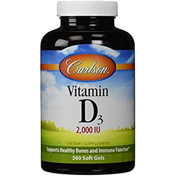 Carlson Vitamin D3 2000 IU, 360 Softgels