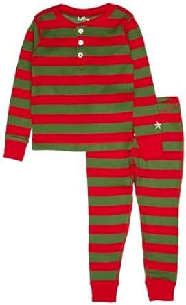 Hatley Little Boys' Pajama Set-Holiday Stripe, Multi Color, 5