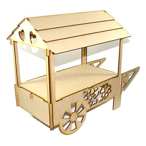 Bee Beautiful Sweet Cart Soporte de mesa de madera contrachapada para bodas, fiestas de cumpleaños, sin pintar: Amazon.es: Hogar