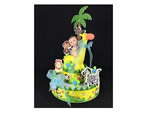 Safari boy Baby Shower Cake (Blue Safari Baby Shower Cake)