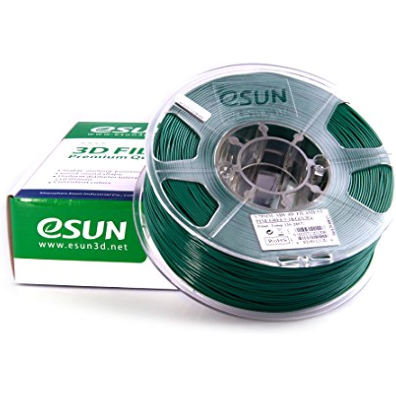 10 Spools of eSUN 1.75mm Pine Green ABS 3D Printer Filament 1kg Spool (22lbs Total), Pine Green