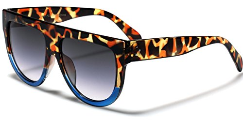 Women's Fashion Flat Top Super Future Sunglasses Retro Vintage Shades