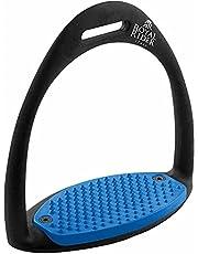 Euroriding Royal Rider Easy Stirrups, Blue-10 cm