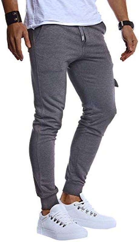 Leif Nelson LN8216 męskie spodnie do joggingu, chinosy, spodnie cargo, spodnie do joggingu, spodnie do biegania, dla chłopcÓw, spodnie dresowe, spodnie w paski, spodnie chinosowe, Slim Fit: Odzież