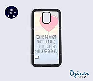 Galaxy S5 Heavy Duty Tough Case Cover - Today is the Oldest Quote