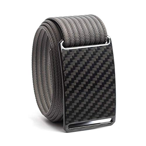 Carbon Fiber Belt GRIP6 Men's Belts (48in Dark Matter w/Grey Strap) (Nickel Grey Apparel)