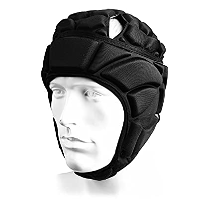 ElementDigital Soccer Headgear Soccer Head Protector Head Guard Goalkeeper Protection Head Gear Goaltender Helmet Sports Adjustable Soccer Goalie Helmet Head Support Soccer Protection Gear for Soccer