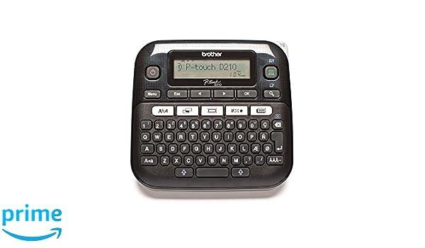 Brother PT-D210VP - Impresora de Etiquetas (LCD ...