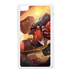 iPod Touch 4 Case White League of Legends Battlecast Prime Cho'Gath EUA15974179 Cases For Cell Phones