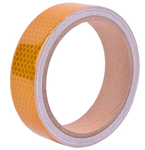 1in x 5yds High-Intensity Yellow Reflective Tape for Vehicles Bikes Clothes Helmets Mailboxes ()