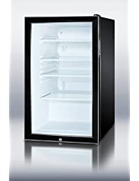 Summit SCR500BL7ADA Refrigerator, Glass/Black