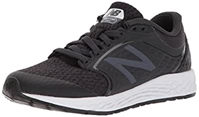 New Balance Boys' Zante v4 Running Shoe, Black/White, 1 M US Little Kid