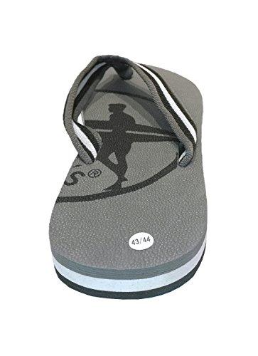 Siebis Strandschuhe Ben Herren-Flip Modischer und sportlicher Zehentrenner: Größe: 41/42 | Farbe: Grau