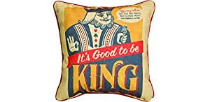 """Manual Woodworkers & Weavers Man Cave Word Throw Pillow, King, 12"""""""
