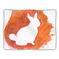 "Kess InHouse Theresa Giolzetti ""Orange You a Bunny"" Abstract Paint Pet Blanket, 60 by 50-Inch"