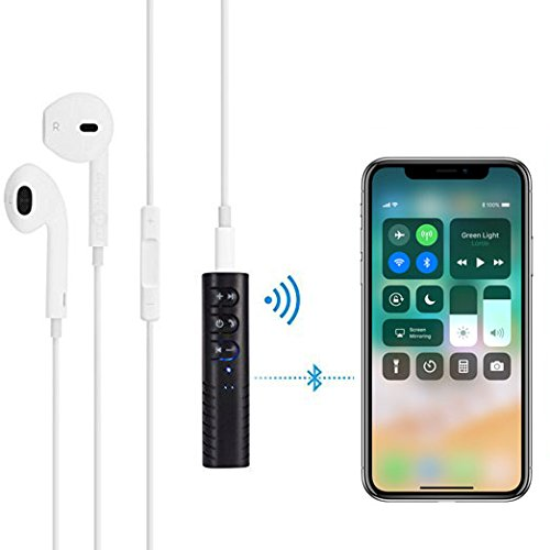 Audio Bluetooth Receiver adapter for iPhone 7/8,Handsfree Car Kits Wireless Music Adapter with Bluetooth V4.1 for Headphone/Earbuds/Car Audio/Speaker/Home Stereo