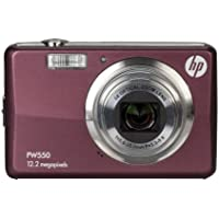 HP PW550 12 MP Digital Camera with 5X Optical Zoom and 2.7-Inch LCD (Plum)