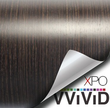 VViViD Dark Ebony Wood Grain Faux Finish Textured Vinyl Wrap Contact Paper Film for Home Office Furniture DIY No Mess Easy to Install Air-release Adhesive (3ft x 48