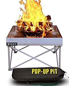 """Campfire Defender Protect Preserve Pop-Up Fire Pit - Portable 24""""x24"""" 8lbs. Never Rust Fire Pit - Burns with 80% Less Smoke - (Pop-Up Pit)"""