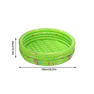 Inc Inflatable Rainbow Kiddie Pool, Durable Plastic Baby Pool, Summer Swim Pool for Kids for Summer Indoor Outdoors Activity: Sports & Outdoors