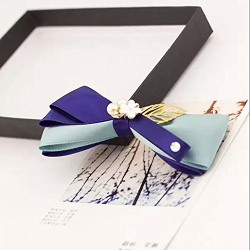 Korean Hand Bow Hair Accessories Hairpin Hair Hair Silk Yarn issuing Hair pin Comb Claw top Chuck faceplate Hair Coil Twist Hair Ornaments (Pressure Clip Mouth
