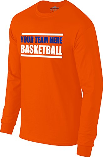 "fa931018d6f Custom Personalized ""Your Team Here"" Basketball Warm-up Long Sleeve Tee T- shirt"
