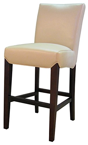 (New Pacific Direct 268527B-693 Milton Bonded Leather Counter Bar & Counter Stools, Cream)