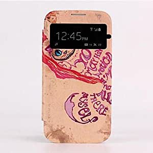 Auto Sleep/Wake Up The Cat Skylight Design Leather Full Body Case for Galaxy S4 I9500