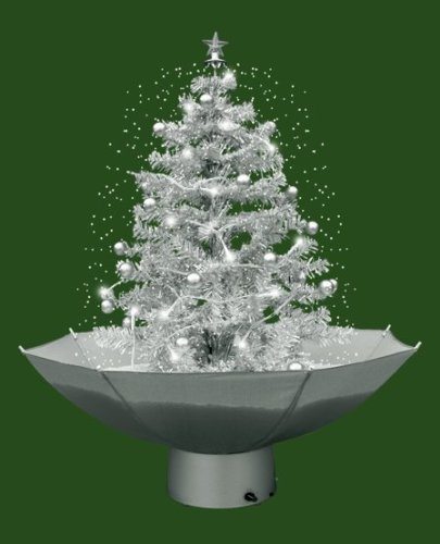 Albero Di Natale Con Neve Argento 75 Cm Amazonit Casa E Cucina