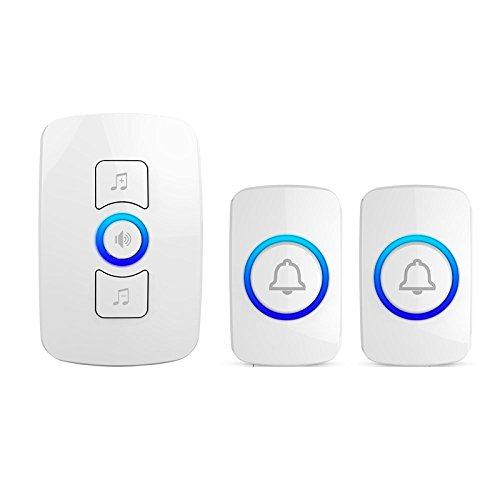 pager Emergency Call Button Home Wireless Doorbell Exchange Remote Electronic Doorbell Old Caller,White2Button+1Doorbell by pager