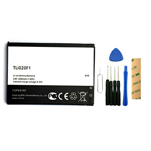 for Alcatel One Touch Pop C7 7041 7040 7040D 7041X Replacement Battery TLi020F1 Free Adhesive Tool (Alcatel One Touch Pop C7)