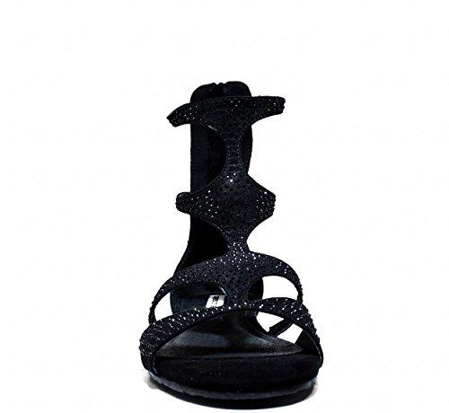Francesco scamosciata nera 2016 collezione L149t nuova o primavera estate in pelle boot romano Milanostyle ffrxnA
