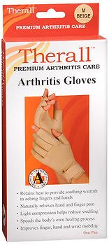 Therall Arthritis Gloves M Beige - Pair, Pack of 6 by Therall