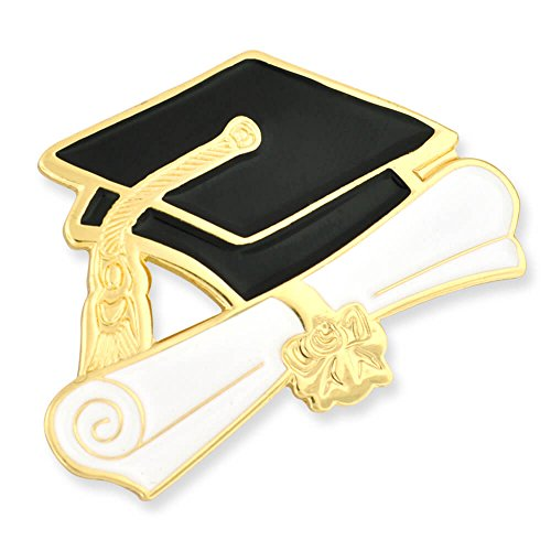PinMart Graduation Cap and Diploma School Graduate Enamel Lapel Pin