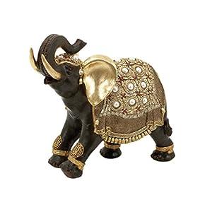 Deco 79 Poly-Stone Elephant, 16 by 12-Inch