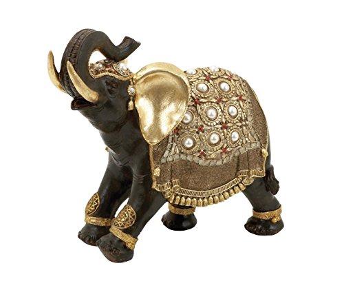 Figurine Stone Elephant (Deco 79 Poly-Stone Elephant, 16 by 12-Inch)