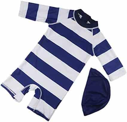 68d9f75899 Digirlsor Baby Toddler Kids Boys One Piece Rash Guard Swimsuit Stripe Sun  Protection Swimwear Bathing Suit