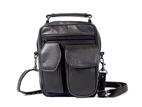 Mylux High Quality Leather Lambskin Multi Pockets Shoulder Bag (L350) ()