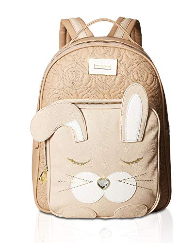 (Betsey Johnson Women's Kitsch Backpack Taupe One Size)